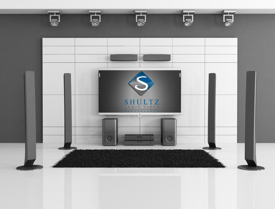 flat screen tv on wall with surround sound. surround sound installation san diego flat screen tv on wall with c