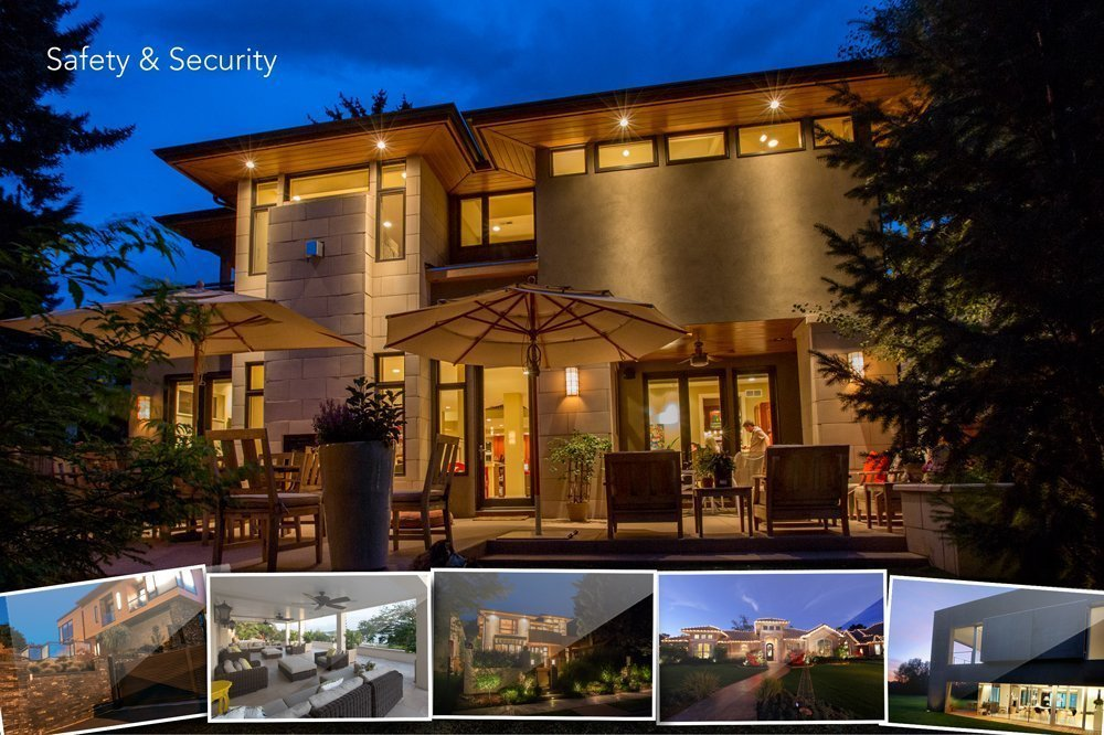 This is a picture of a home that is safe and secure because they have a home security system by Shultz Audio Video.