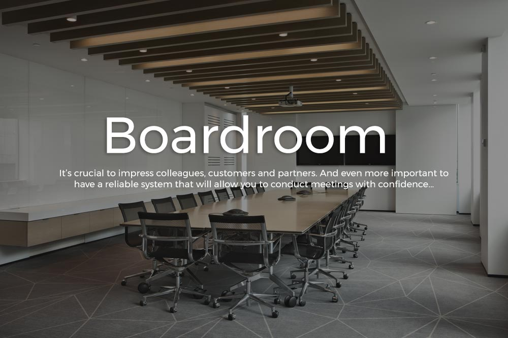 A Boardroom with Control4 Solutions