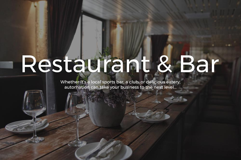 Restaurant and Bar Sound System and Control4 Solutions