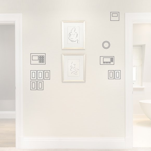banks of light switches. Replacing multiple switches and dimmers with one beautiful keypad means never having to disrupt the aesthetics of the home.
