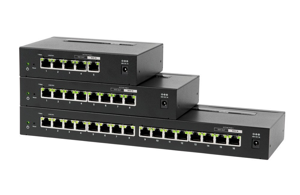 100-Series Unmanaged Gigabit Switches