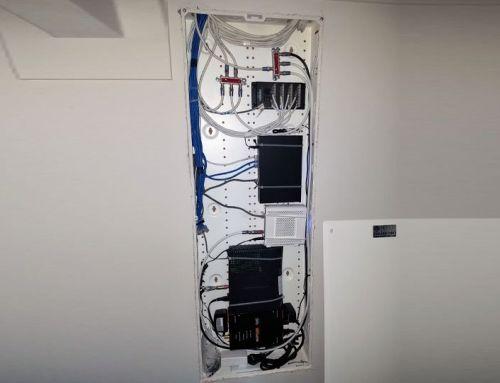 Structured Wiring Cabinet Installation