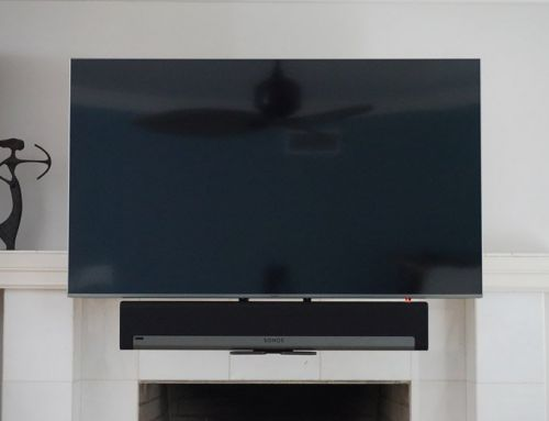Mantle Mount With Mounted SONOS Sound Bar Installation