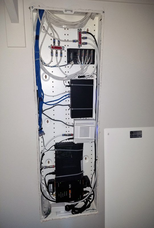 Structured Wiring Cabinet Install