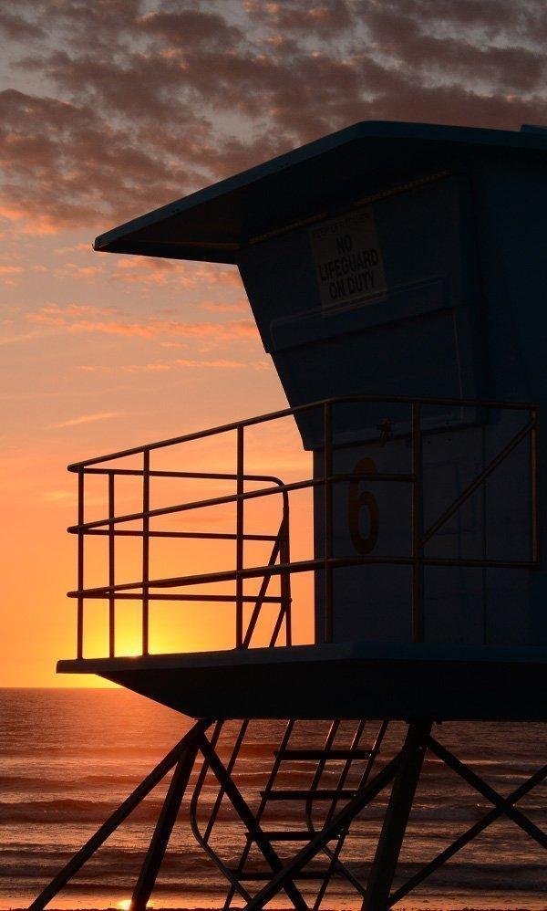 Oceanside Harbor Beach Lifeguard Tower