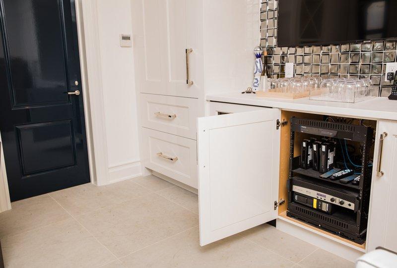 Outdoor System Equipment Inside Under Cabinet Rack Installation
