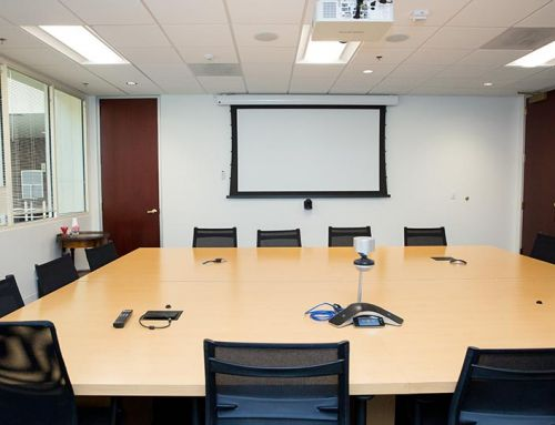 Conference Room Projector and Projection Screen Installation