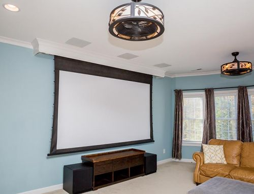 Projector, Screen, Surround Sound Installation