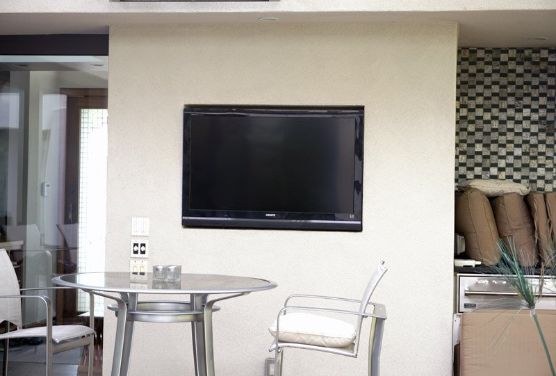 SunBriteTV Installed on Outside Patio in La Jolla