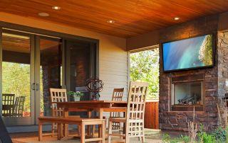 Outdoor TV & Audio Setup
